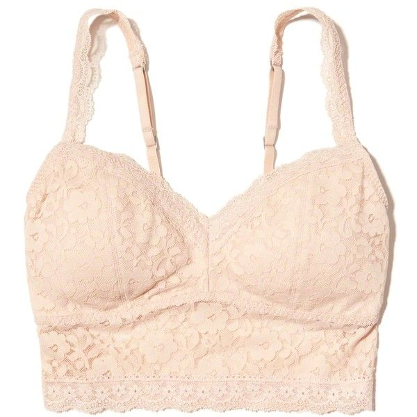 0e57385ef3 Hollister Lace Longline Bralette With Removable Pads ( 17) ❤ liked on  Polyvore featuring intimates
