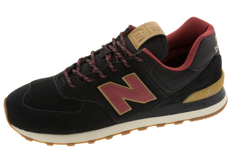 new balance 574 dark red