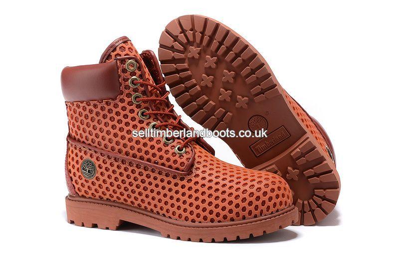 klassische Schuhe Sonderpreis für weit verbreitet Authentic Timberland Women's 6 Inch Premium Orange Honeycomb ...