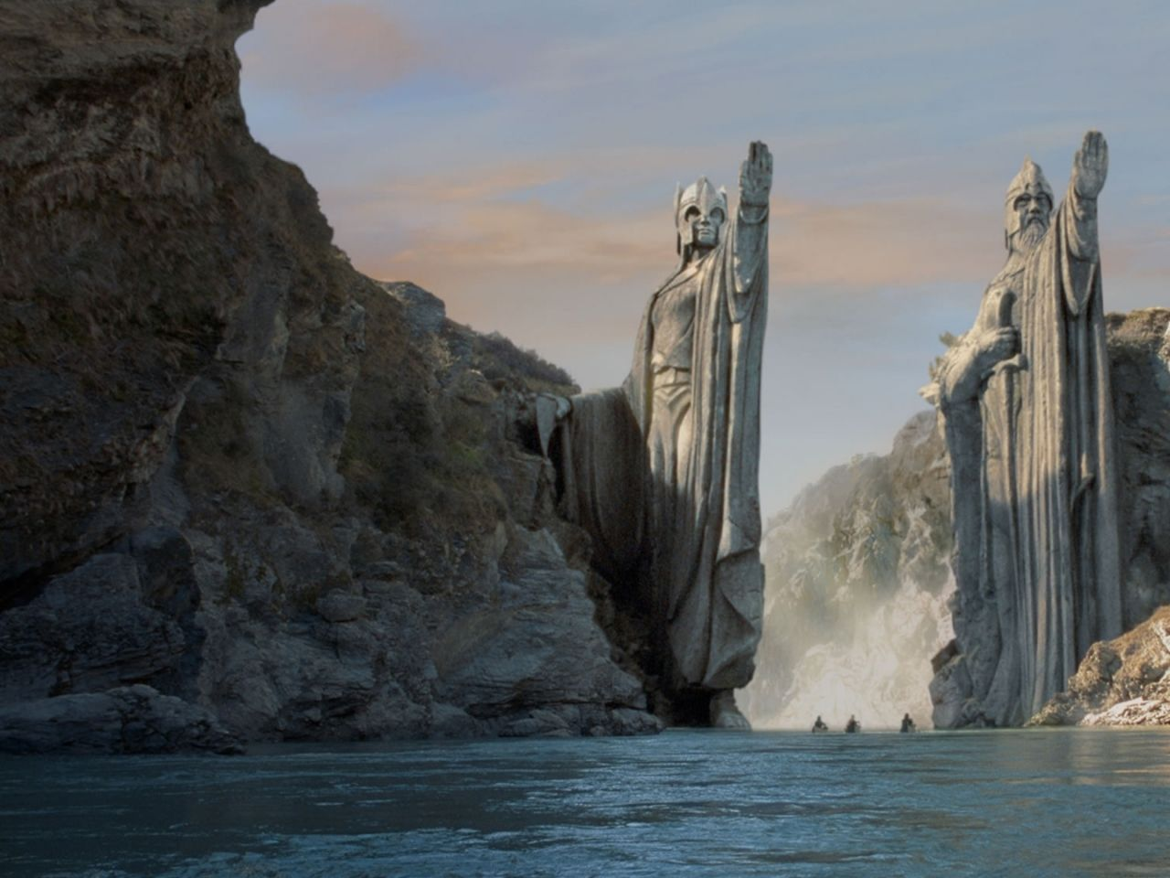 mountains the lord of the rings argonath statues