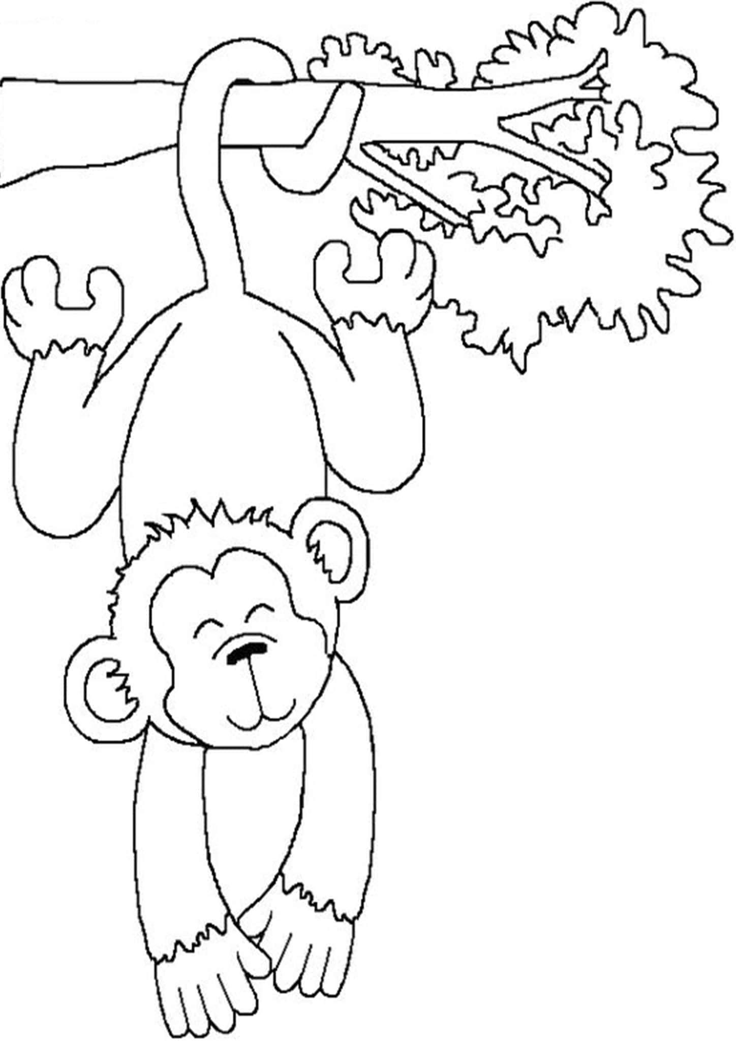 Free Easy To Print Monkey Coloring Pages Monkey Coloring Pages Monkey Crafts Coloring Pages