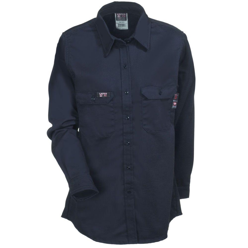 699c76fd50c8 Lapco Women s L SFRAC NY Flame-Resistant Navy Twill Work Shirt ...