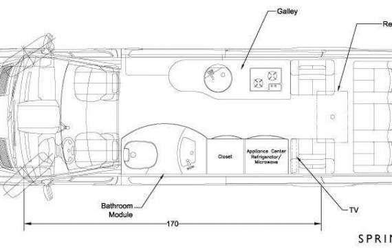 144 Sprinter Conversions Floor Plans Decorbold Motorhome Sprinter Sprinter Conversion