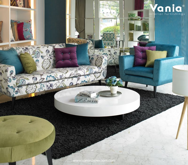 Our showroom at jakarta using warwick fabric for sofa for Sofa jakarta