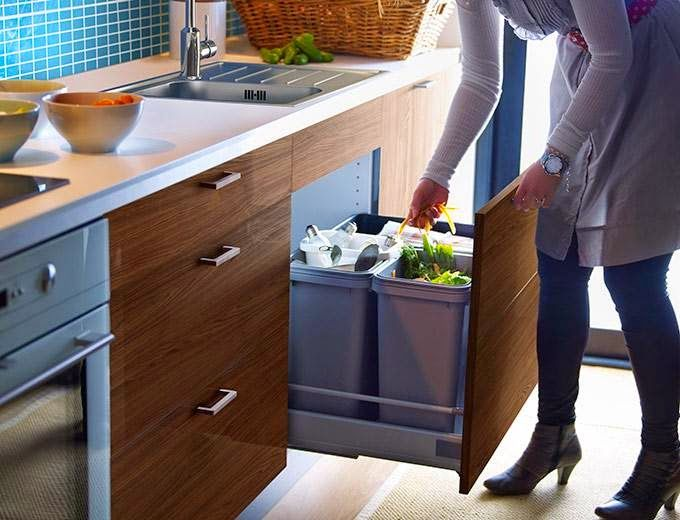 7 ideas para poner en orden la cocina residuos cocinas - Ikea organizadores cajones ...