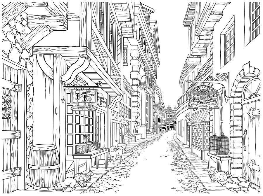 2bc56401 Diagon Alley No Kids by IrishManReynolds.deviantart.com on ...
