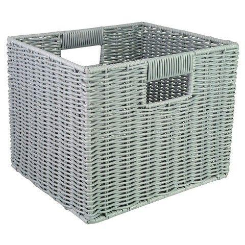Woven Plastic Storage Cube   Room Essentials™