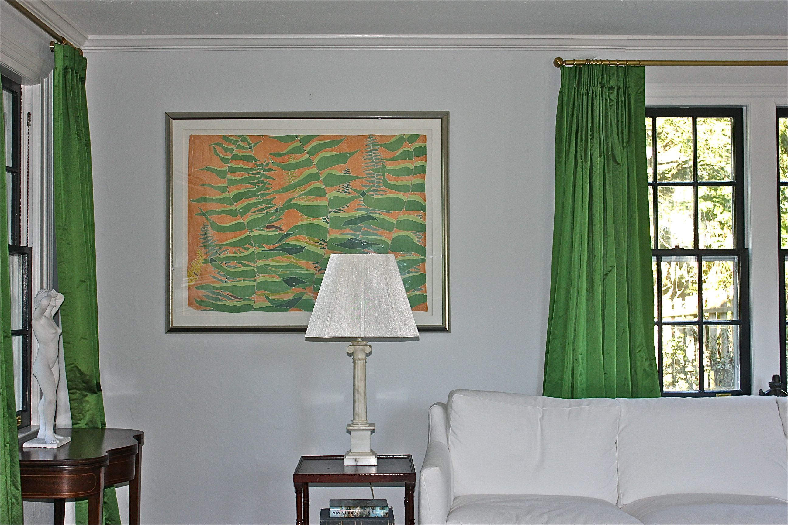 Best Oscar De La Renta Fabric Ben Moore Bunny Gray Walls 400 x 300