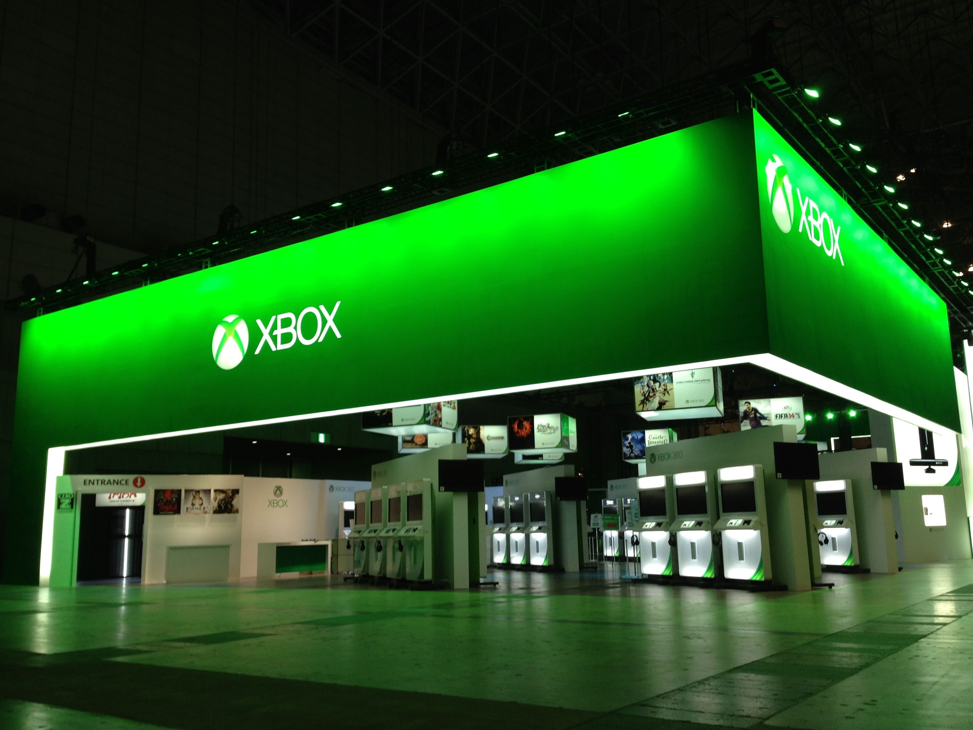 Exhibition Stand Game : Tokyo game show microsoft xbox booth exhibition