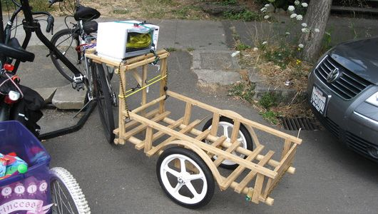 How to build your own bamboo bike trailer