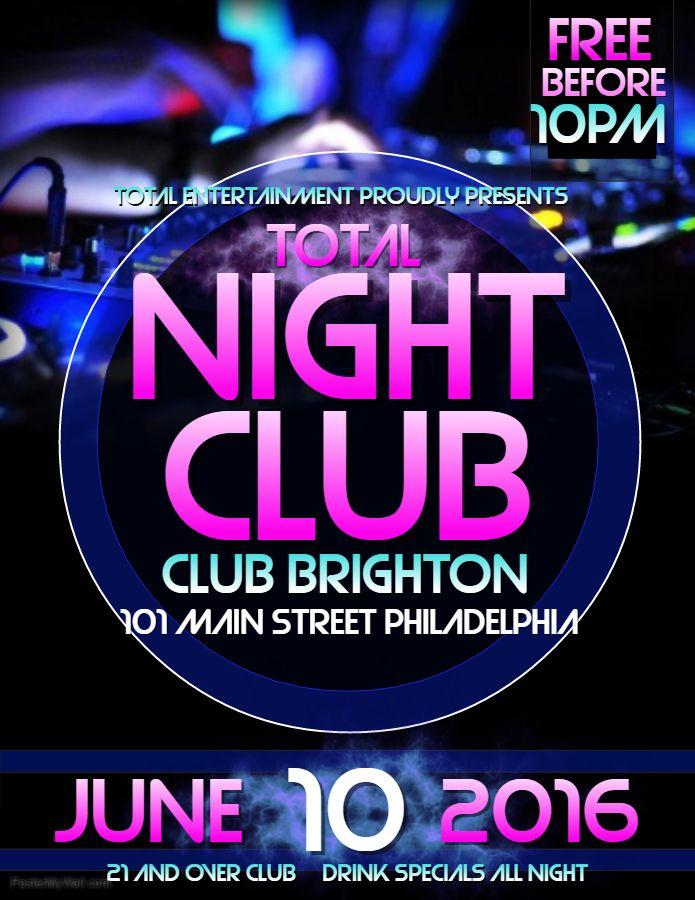 Night Club Event Flyer Template Event Flyer Templates Pinterest