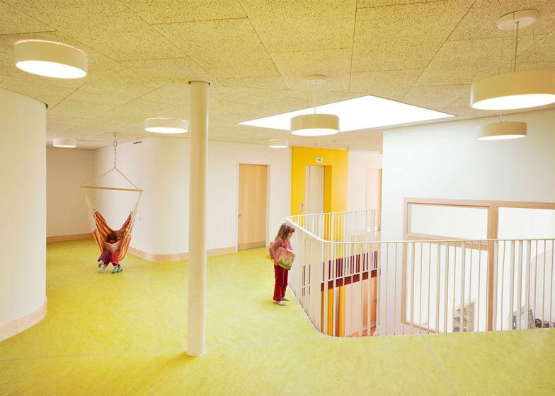 Kindergarten from Schwetzinger Terrasse by Behnisch Architekten in Heidelberg, Germany