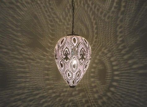 Buy this exquisite Moroccan Silver Plated Brass Hanging Pendant Light Lamp and liven your home decor. We offer 100% authentic, handcrafted Moroccan lamp.
