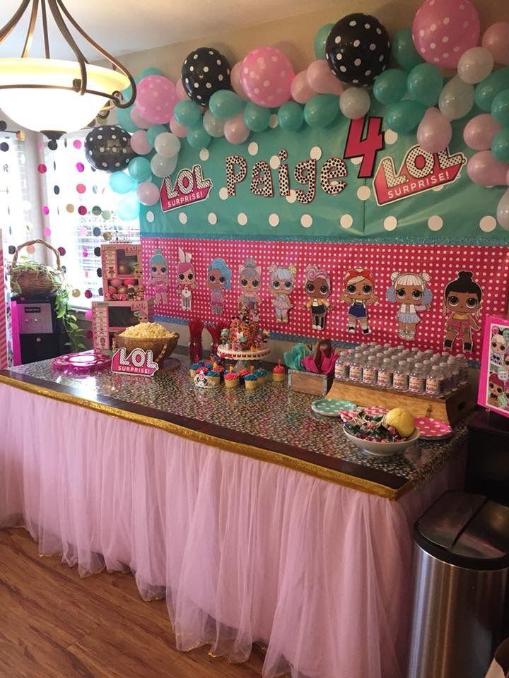 Lol Surprise Doll Birthday Party Gianella 7 Pinterest