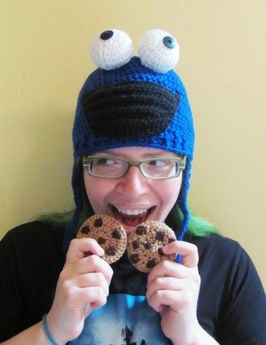 Cookie Monster Crocheted Hat All Sizes Made To Order Cookie
