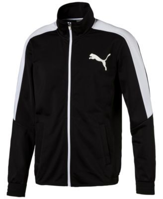 Puma Men's Tricot Track Jacket In Black