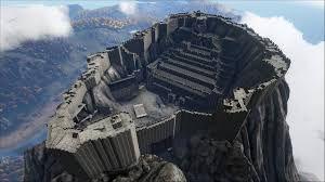 Image result for ark survival evolved castle base on volcano in The