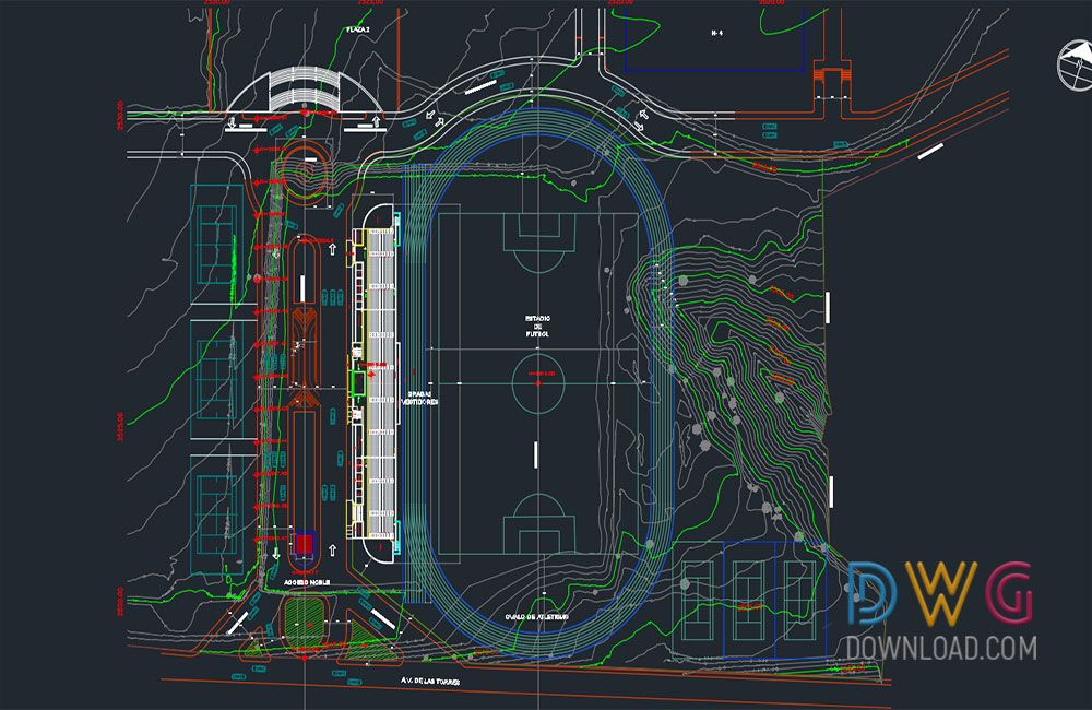 Dwg Download Wide Stadium Toplogical Project