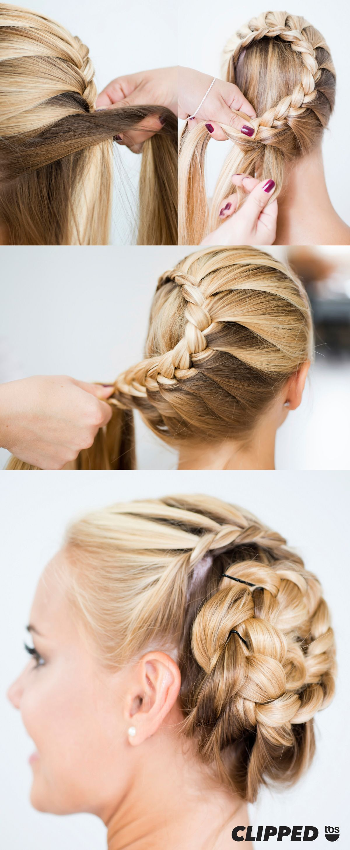 Tutorial how to create a braid bun perfect hairstyle for your
