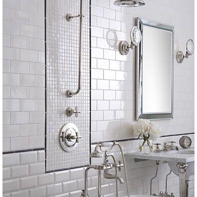 Pin By Judith Campbell On Bathroom Ideas Traditional Bathroom Tile White Tile Bathroom Walls Modern Bathroom Tile
