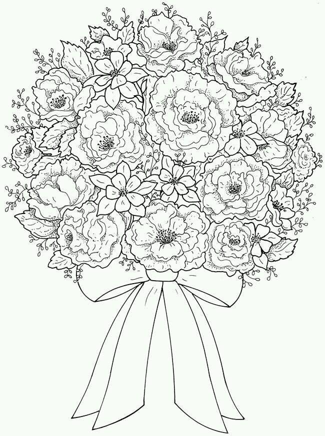 Fleurs Coloriage Coloriage Mandala Coloriage Mariage