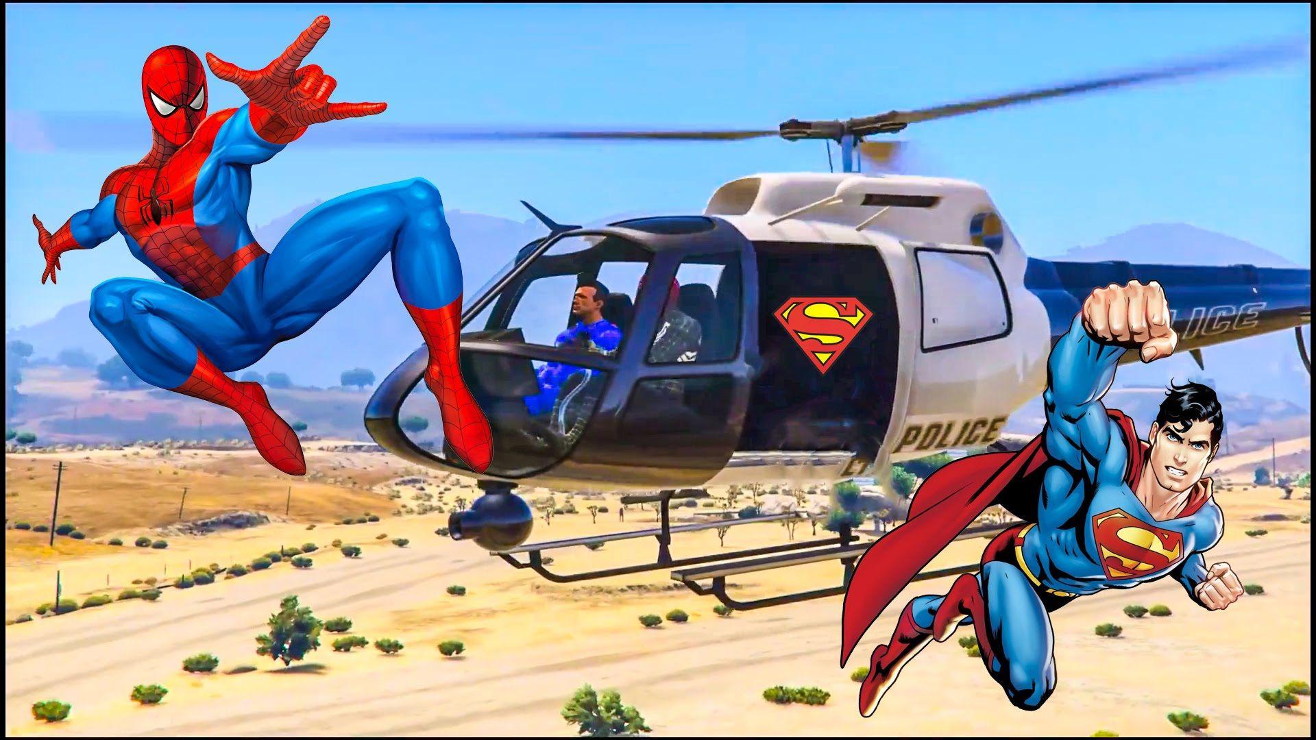 Человек паук и его друзья супергерои Гонки и мультики про ...