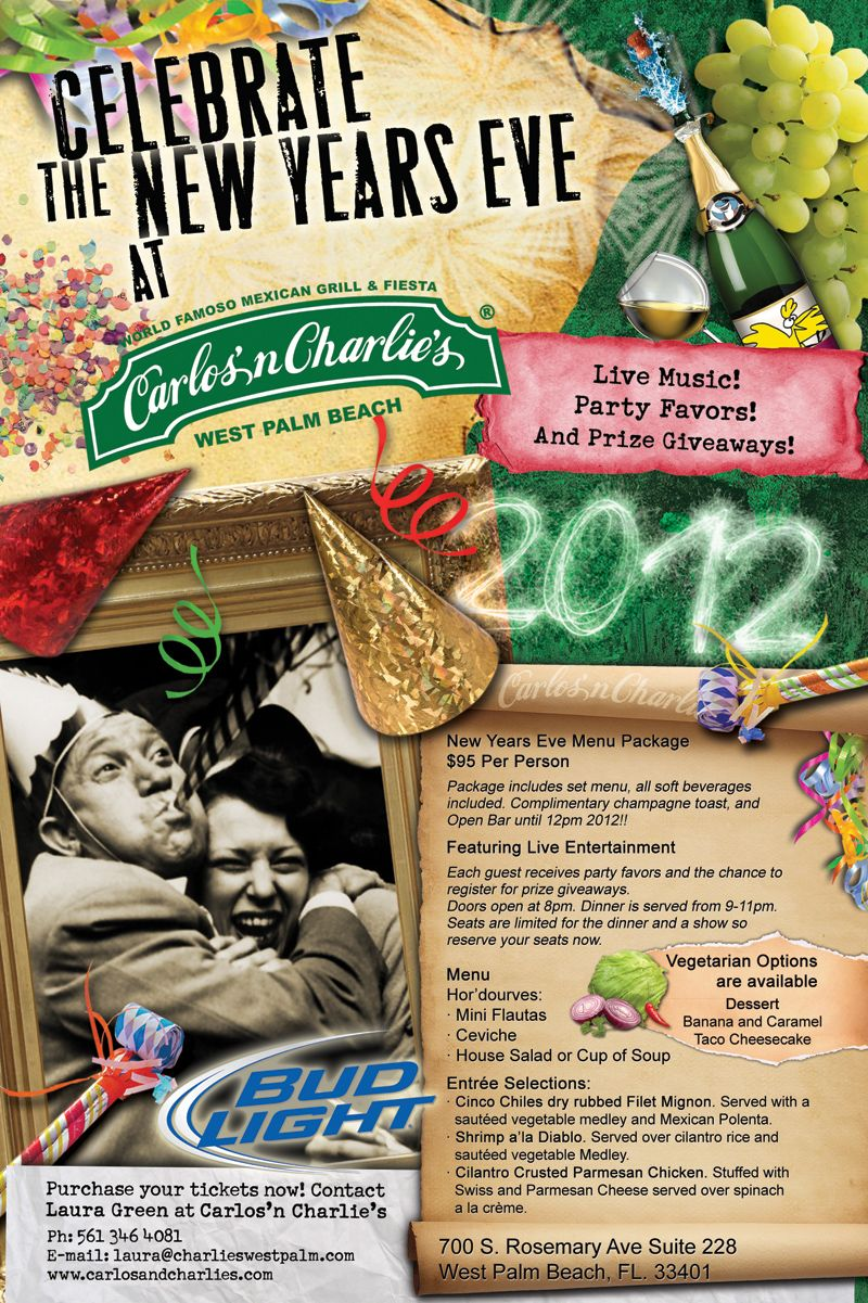 Celebrate New Year's Eve at Carlos'n Charlie's CityPlace