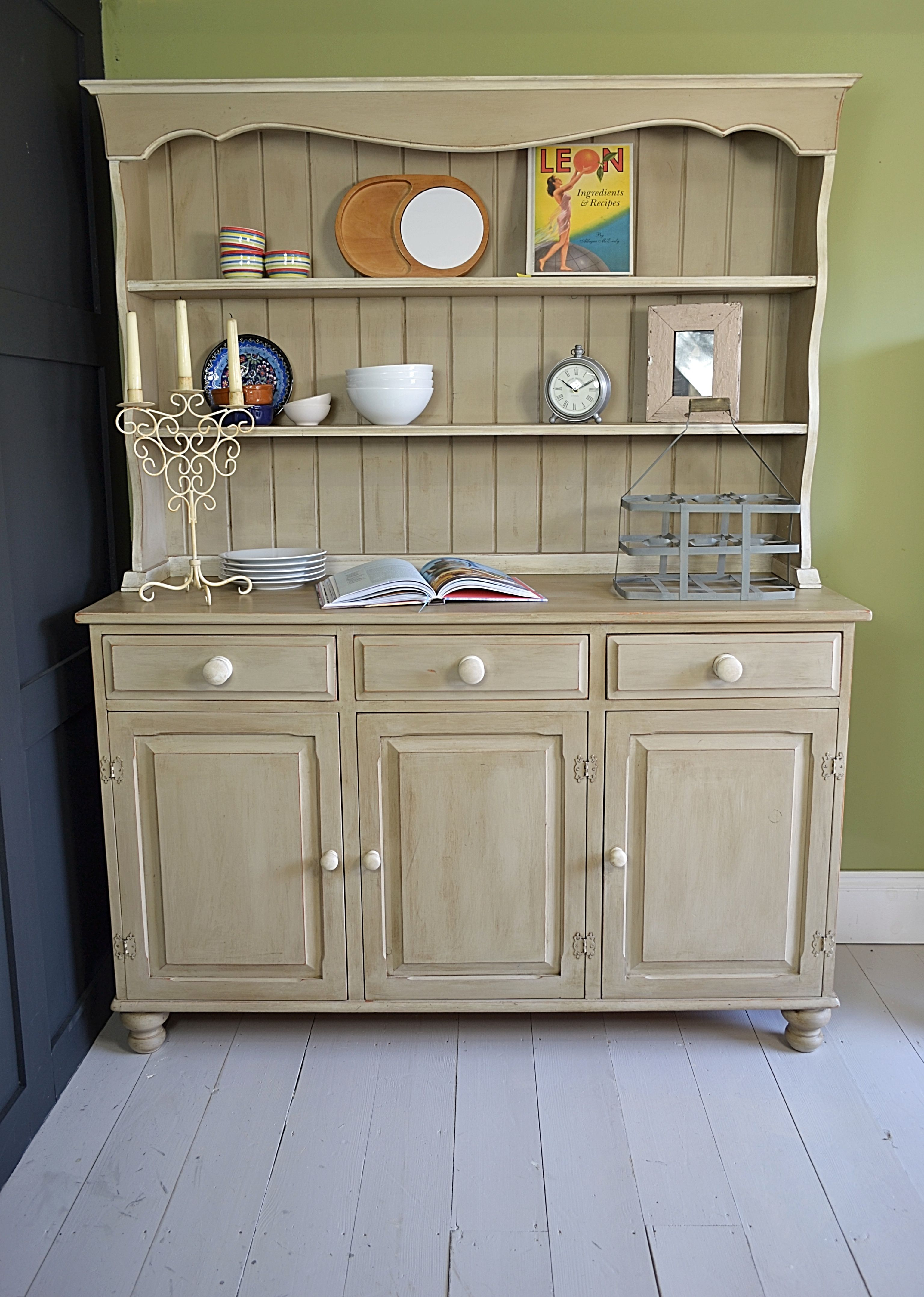 Kitchen Storage Doesn 39 T Get Much Better Than This With Annie Sloan Country Grey And Old White