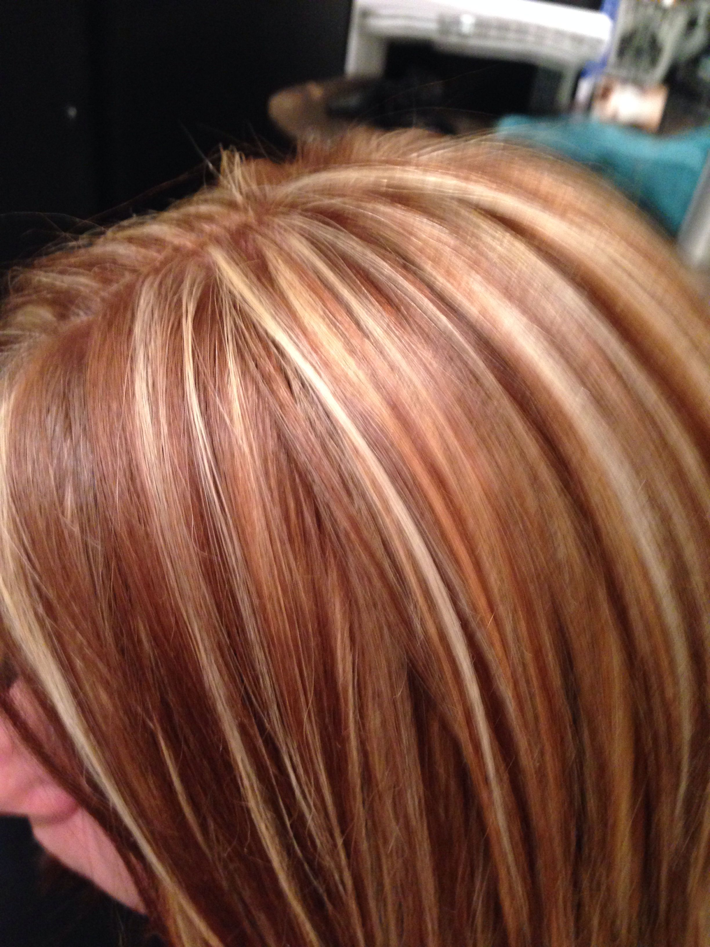 Red blonde and brown hair Highlights blonde and brown