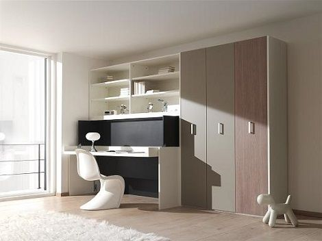 BOONE Office,FLAT OFFICE BURO 4 Kleur: zwart, wit, Bed en bureau in ...