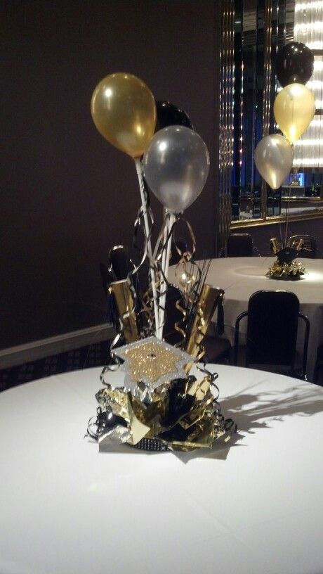 Graduation Centerpiece Gold Graduation Party Graduation Center