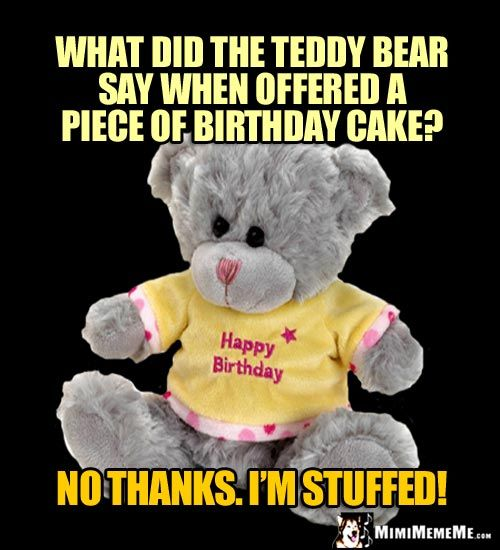 Birthday Riddle: What Did The Teddy Bear Say When Offered