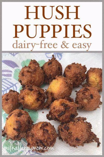 DairyFree Hush Puppies Recipe Dairy free, Dairy free