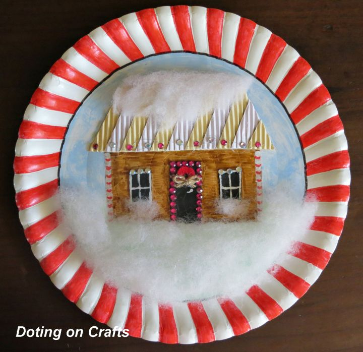 Paper Plate Gingerbread House Collage & Paper Plate Gingerbread House Collage | Paper plate crafts ...