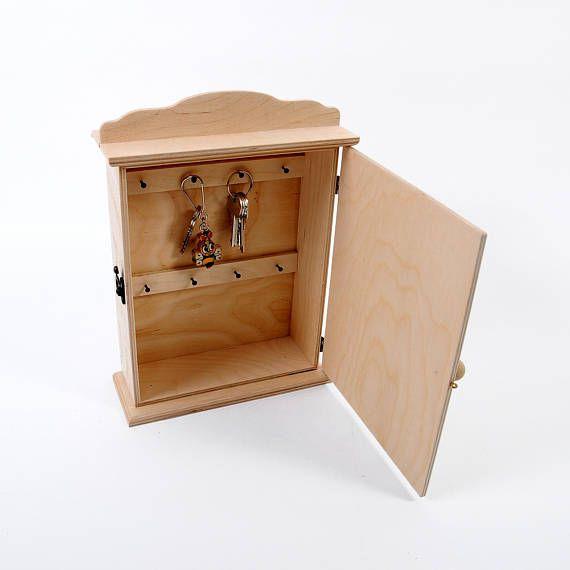 Key Holder Rack With Metal Key Hooks Key Cabinet Wooden Key