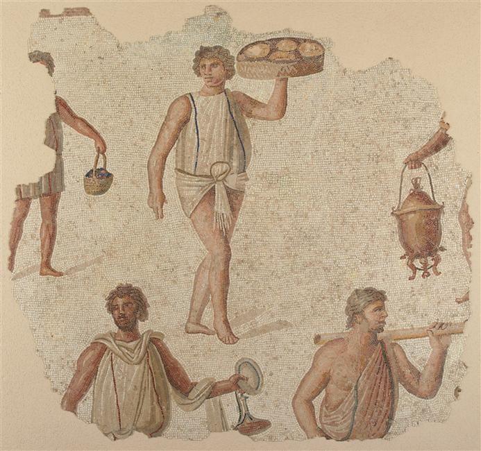 Tunisie Environ De Carthage Fragment De Mosaique De Sol Les