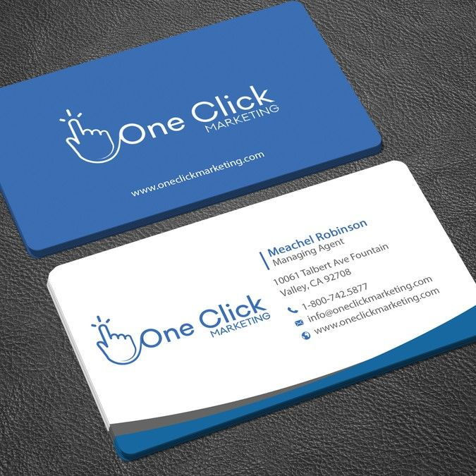 Freelance Business Card For Online Marketing Company By Mourad Chorfy Company Business Cards Online Visiting Card Business Card Design Simple