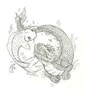 Photo of koi and dragon tattoo by Inu87 on DeviantArt  koi and dragon tattoo by ~Inu87 on…
