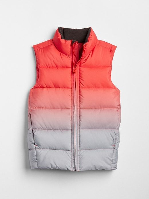 101d9940a Gap Boys Coldcontrol Max Ombre Puffer Vest Fire Red Ombre
