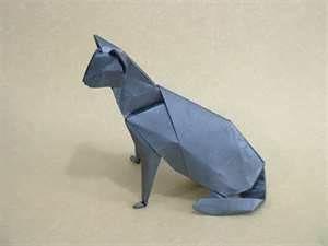 Origami blue cat repin Heather Medes
