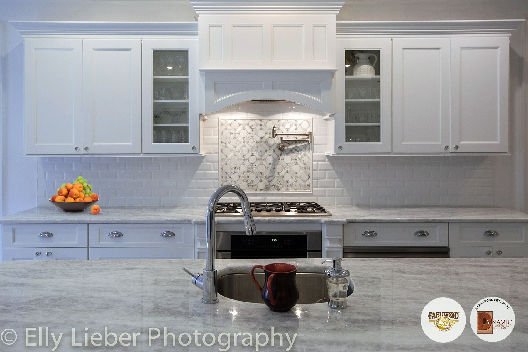 Another Stunning View Of This Nexus Frost Kitchen Built By Dynamic  Cabinetry In Cedarhurst, NY