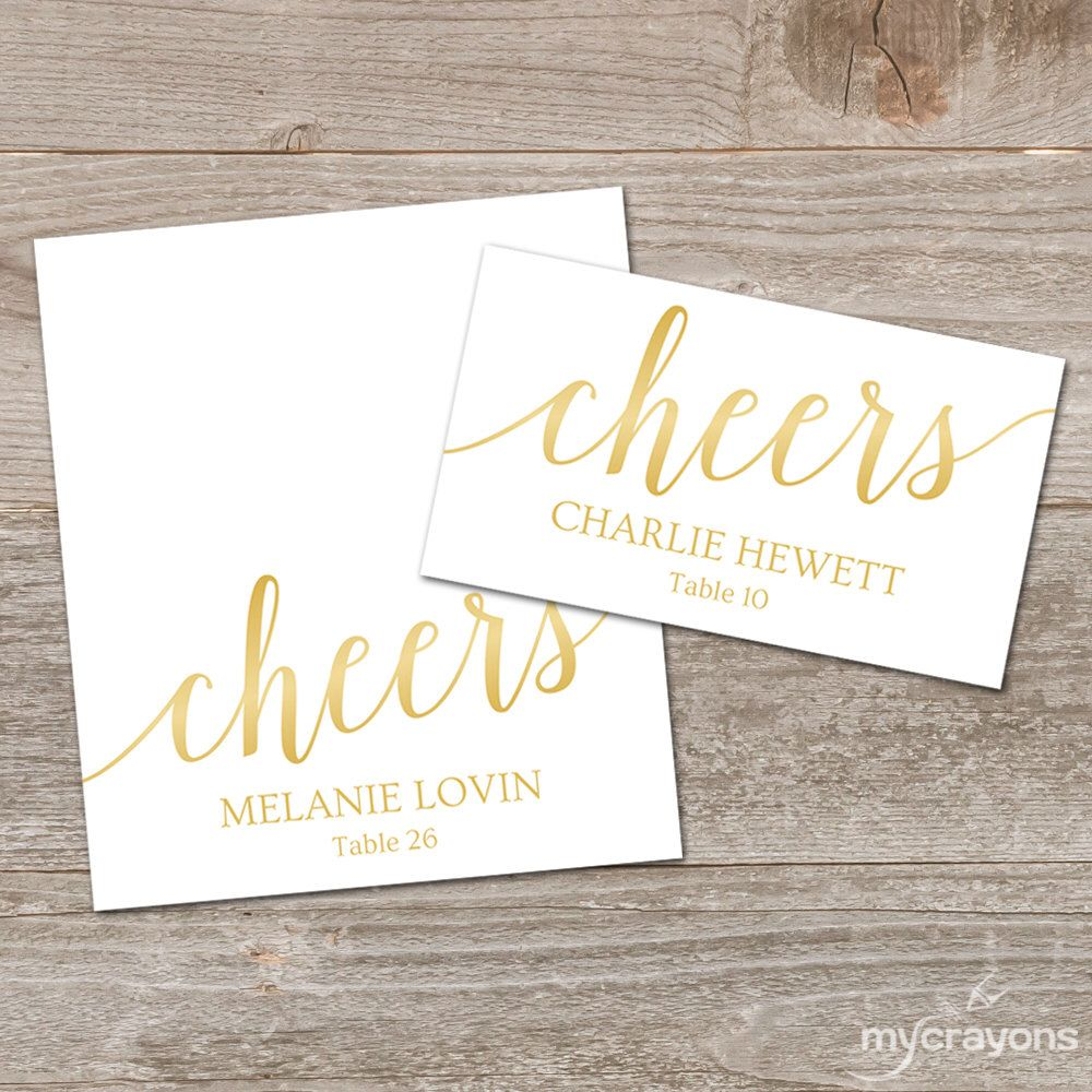 Wedding Place Cards Gold Wedding Place Card Template Welcome Etsy Wedding Place Card Templates Place Card Template Printable Place Cards Wedding