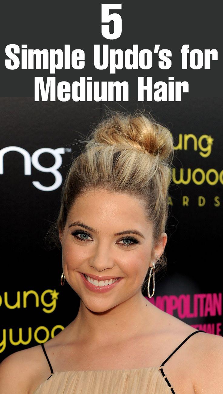 5  Simple Updo's for Medium Hair