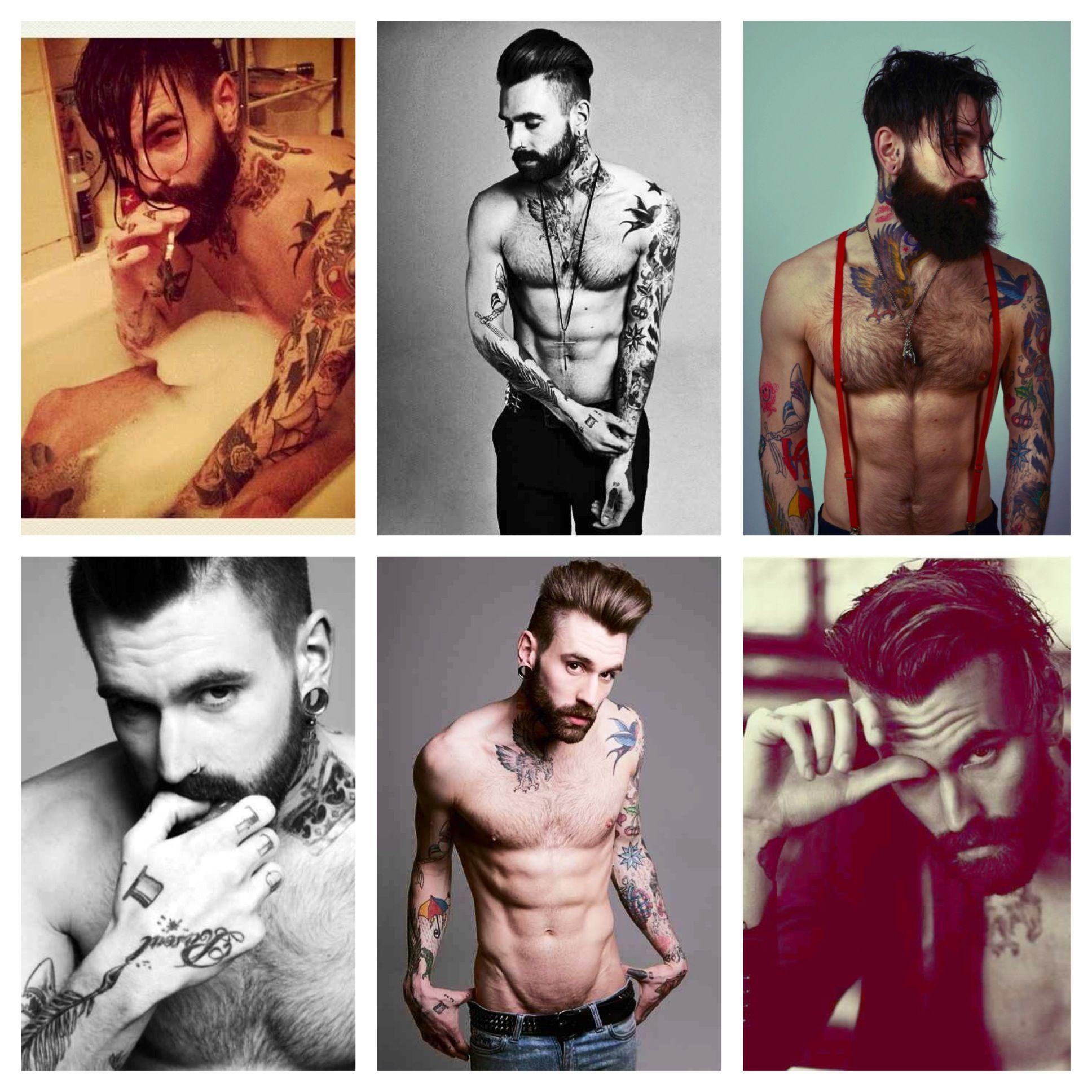 Ricki Hall.... Model! Beards and tattoos go hand in hand.