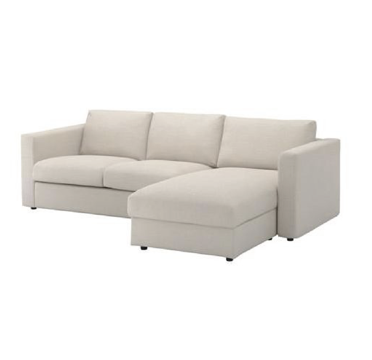 Vimle Sofa With Chaise With Headrest Gunnared Beige Sofa Bed