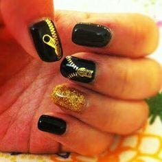 #zipper #nails