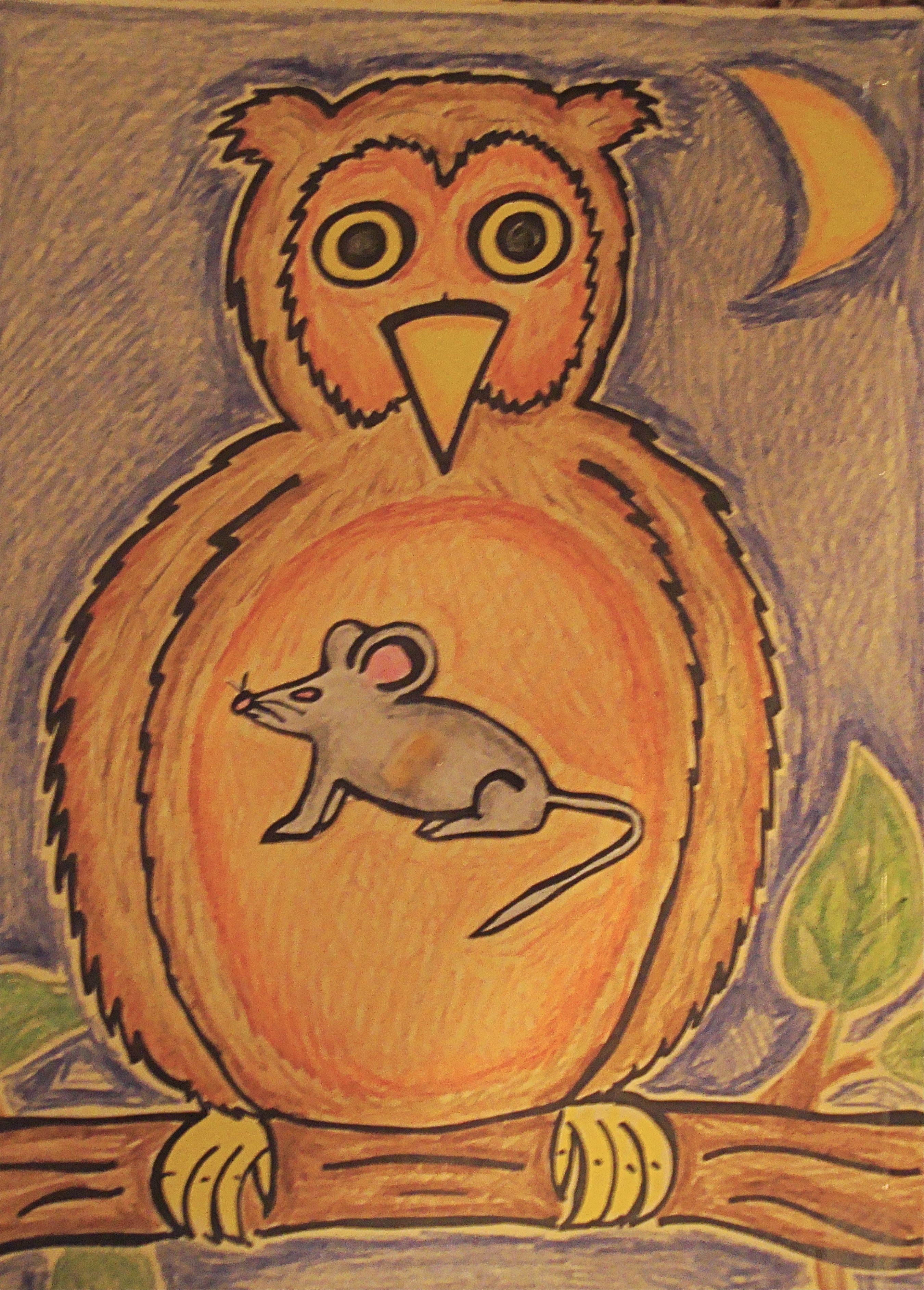 Easy Art Project To Demonstrate A Basic Food Chain Owl