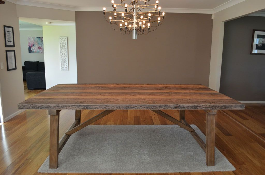 large rustic industrial 10 12 seat timber dining table recycled wood furniture ebay timber. Black Bedroom Furniture Sets. Home Design Ideas