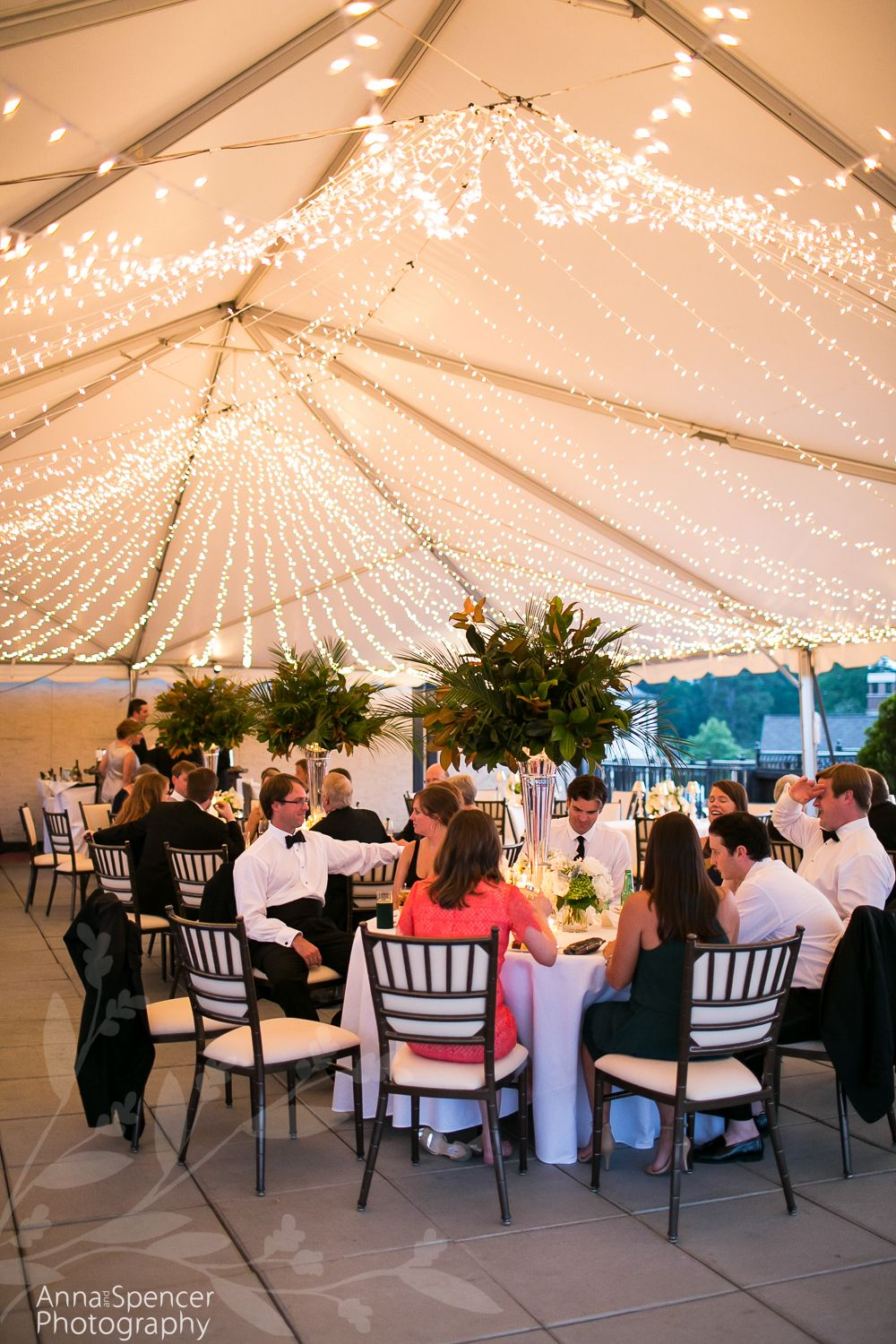 Atlanta Wedding Reception Venue The Capital City Club Outdoor Terrace Tent In Brookhaven