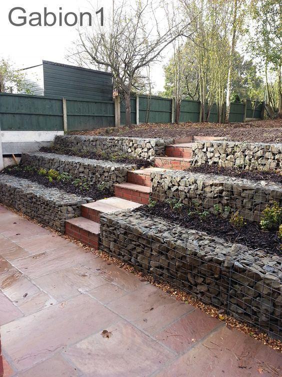 Terraced Garden Gabion Walls Http Www Gabion1 Co Uk Terrace